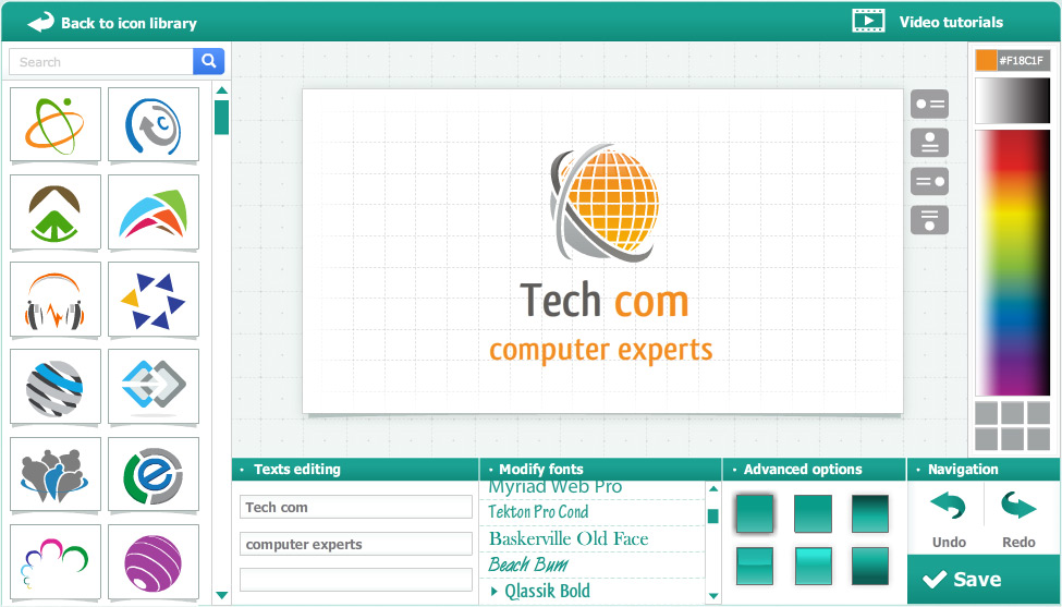 Logogenie online company logo design systems online for Draw logo online