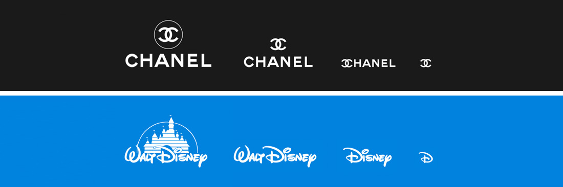 Chanel logo & Disney logo