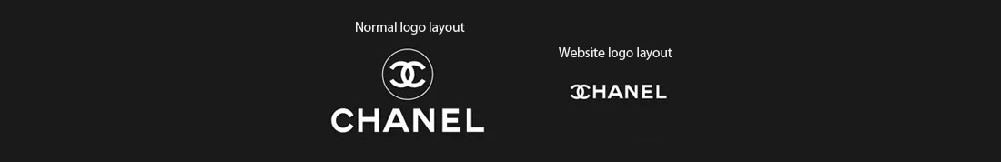 Chanel logo on website