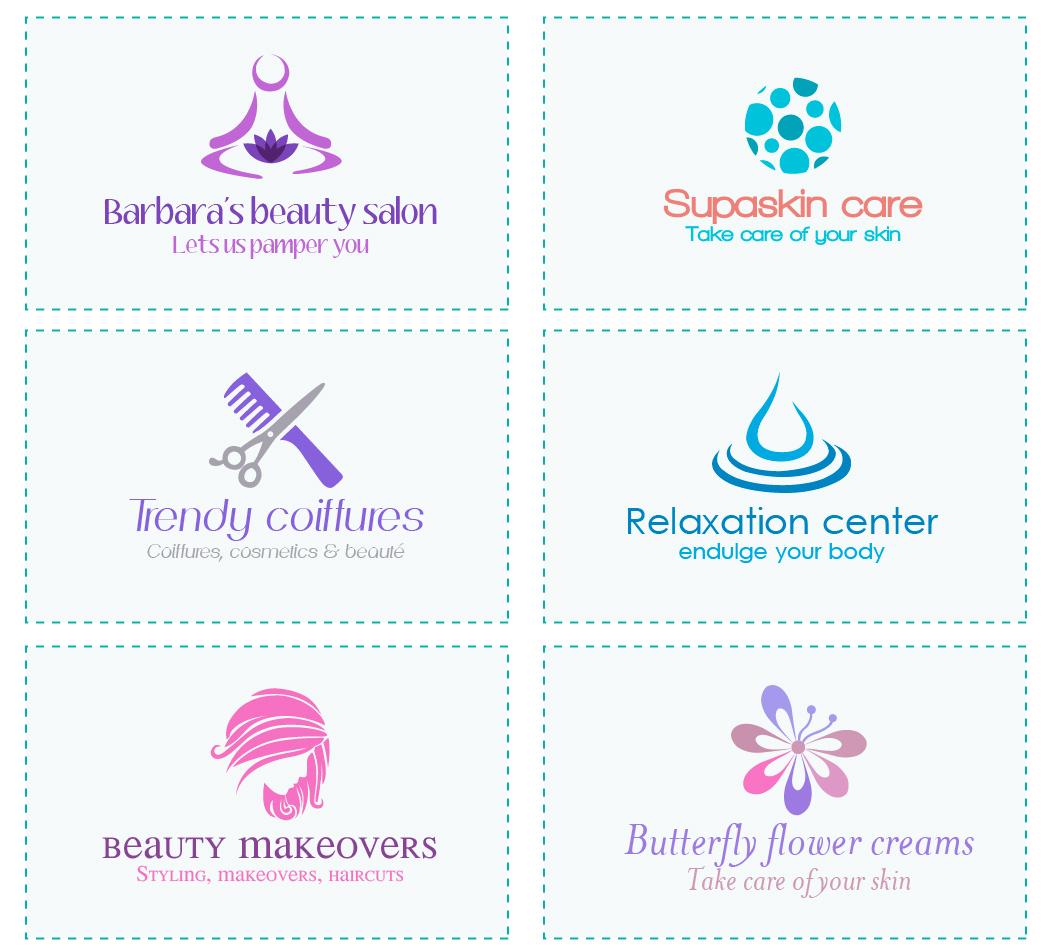Do it yourself logo design examples of logos created with cosmetic logo design solutioingenieria Choice Image
